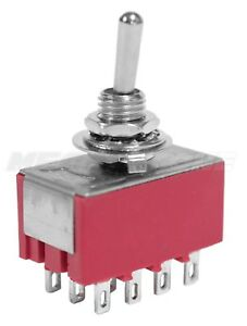 4pdt Mini Toggle Switch On off on Solder Lug High Quality Usa Seller