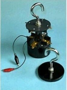 Compact Electro Magnet 200 Lb Lift Electrical Current Magnetic Field Demo