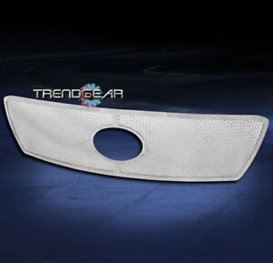 For 2010 2013 Toyota Tundra Front Upper Stainless Mesh Grille Chrome Logo Show