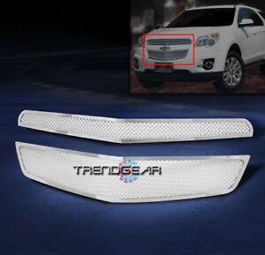 2010 2014 Chevy Equinox Front Upper Stainless Steel Mesh Grille Chrome 2012 2013
