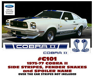 C101 1975 77 Ford Mustang Cobra Ii Complete Side Stripe And Decal Kit