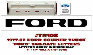 Tr108 1977 82 Ford Courier Truck Tailgate Letters Decal Ford Licensed