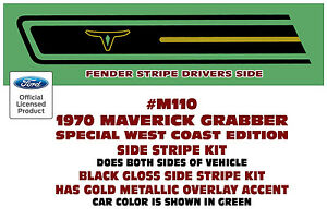 Sp M110 Ford Maverick Special West Coast Edition Black Stripe gold Accent