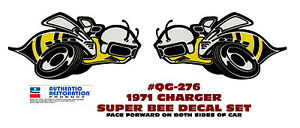 Qg 276 1971 Dodge Charger Super Bee Quarter Panel Bee Decal Set Two Stickers