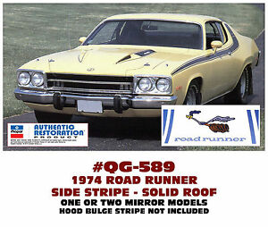 Qg 589 1974 Plymouth Road Runner Side Roof Solid Stripe