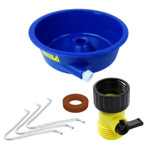 Blue Bowl Gold Concentrator Bowl With Control Valve Wire Legs And Instructions