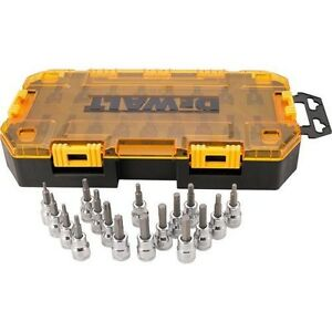 Dewalt 17 Piece 3 8 Drive Allen Hex Bits Sae Metric And Torx Socket Set