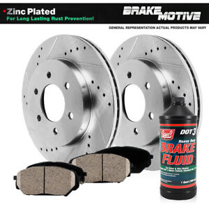 Front Drilled Slotted Brake Rotors Ceramic Pads Ford F150 Expedition Navigator