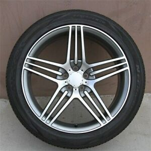 Set 4 20x9 5 5x112 Et40 Wheels Tires Pkg Benz Ml Gl Ml350 Ml500 Ml550 Gl450