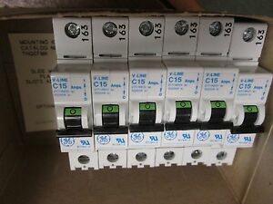 Ge Circuit Breaker Thq1115wl 15a 120 240vac 1p Lot Of 6 New Surplus