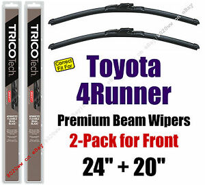 Wipers 2 Pack Premium Wiper Beam Blades Fit 2010 Toyota 4runner 19240 200