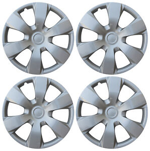 4 Pc Hub Cap Set Silver Fits 2007 08 09 Toyota Camry 16 Wheel Cover Caps Covers