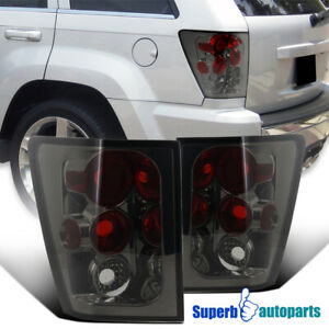 For 2005 2006 Jeep Grand Cherokee Replacement Smoke Tail Lights Brake Lamps