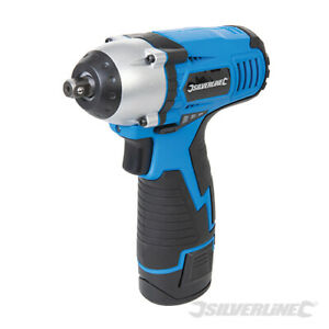 Silverline 10 8v Lithium Li Ion 3 8 Drive Cordless Impact Wrench Ratchet 638542