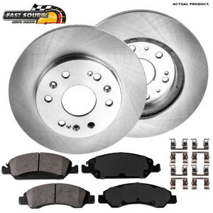 Front Brake Rotors And Ceramic Pads For Escalade Silverado Tahoe Sierra Suburban