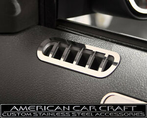 2010 2014 Mustang Gt Polished Stainless Door Defroster Vents Pair