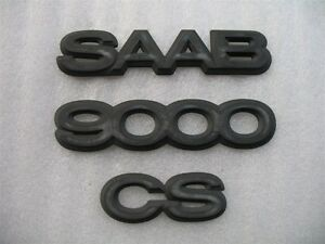 1995 Saab 9000cs 9000 Cs Rear Trunk Emblem Logo Decal Set Oem 93 94 95 96 97 98