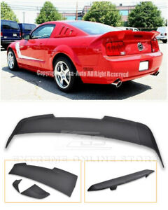 For 05 09 Ford Mustang Eos R Style Primer Black Rear Trunk Spoiler Lid Wing Lip