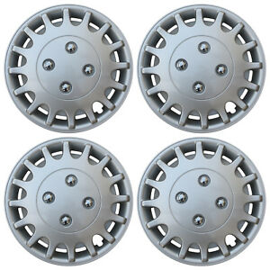 4 Piece Set 13 Inch Hub Cap Silver Rim Cover For Oem Steel Wheel Covers Caps