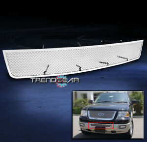 2007 2013 Ford Expedition Front Bumper Stainless Steel Mesh Grille Grill Chrome