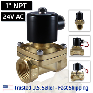 1 24 Volts Ac Electric Brass Solenoid Valve Water Gas Air 24 Vac