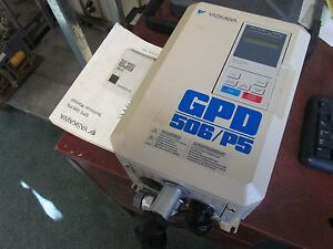 Yaskawa Gpd506 p5 Ac Drive W Manual Cimr p5m45p5 Gpd506v b014 10hp 3ph Used