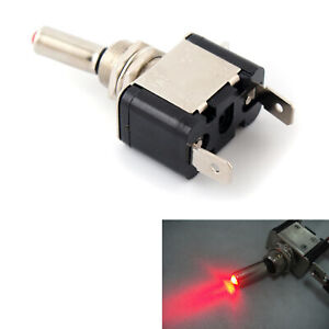 Red Led Lighted Toggle Switch Rocker 12v 20a On Off Car Truck Atv Airplane