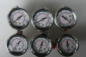 Noshok Liquid Filled Pressure Gauge lots Of 6 With 1 4 Fittings