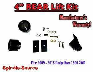 2009 2018 Dodge Ram 1500 4 Rear Spacer Lift Kit 2wd Only W Panhard Bracket