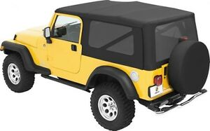 2004 2006 Jeep Wrangler Unlimited Bestop Replace A Top Soft Top Kit In Black