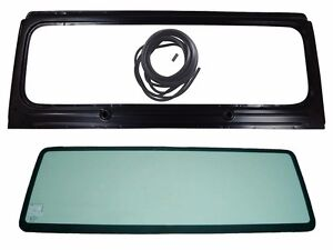 New Windshield Frame Glass With 3 Pcs Seal Kit For Jeep Wrangler 1987 1995