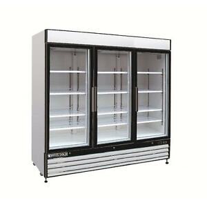 Maxx Cold Mxm3 72r Refrigerator Triple 3 Glass Door Reach In Cooler Merchandiser
