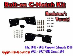 2001 07 Chevy Silverado Gmc Sierra C Notch For Use With Flip Lowering Drop Kit
