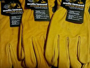 6 X large Xl Wells Lamont Work Gloves Construction Leather Cowhide Premium New