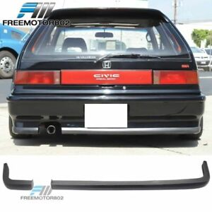For 88 91 Honda Civic Ef9 2dr 3dr Hatchback Ik Style Rear Bumper Lip Spoiler Pu
