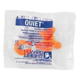 100 Pair Howard Leight Quiet Reusable Corded Foam Ear Plugs Nrr 26