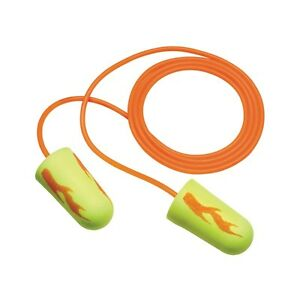 200 Pair 3m E a rsoft Yellow Neon Blast Corded Disposable Ear Plugs Nrr 33