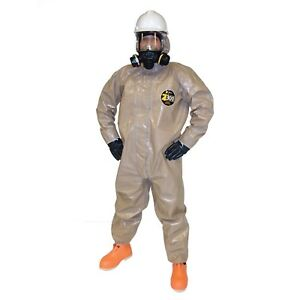 Kappler Zytron 300 Hood Elastic Wrists Ankles Chemical Coveralls Only