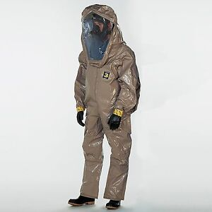 Dupont Tychem Cpf 3 Level B Rear Entry Exp Back Encapsulated Hazmat Suit Only