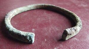 Authentic Ancient Lake Ladoga Viking Artifact Bronze Bracelet E98