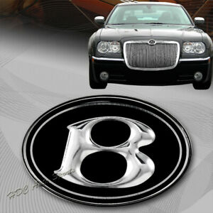 For 2005 2010 Chrysler 300 300c Front Hood Grill Vip Black Chrome B Emblem Logo