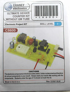 Kitsusa C8600 Ultimate Geiger Counter Kit Without Gm Tube solder Version