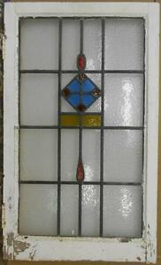 Large Old English Leaded Stained Glass Window Pretty Drop Design 20 5 X 34 25
