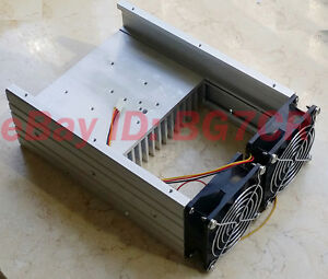 Aluminum Heat Sink Radiator Cooling Fan For 80w Fm Transmitter Amplifier Pcb