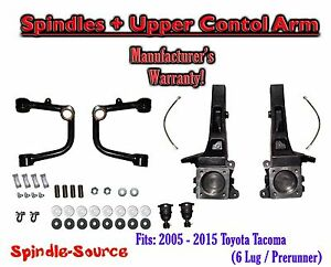 2005 2016 Toyota Tacoma Prerunner 4 Inch Lift Spindles Upper Control Arms