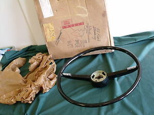 Nos 1955 Ford Fairlane Black Steering Wheel Fomoco Crown Victoria 55