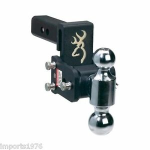 B W Tow Stow Browning Edition Trailer Hitch Dual Ball Mount 3 Drop Ts10033bb