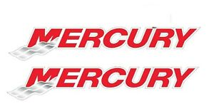Pair 2 Mercury Marine Fishing Outboard Boat Motor Decal sticker 1 Pair 4 P79