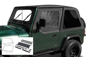 1992 1995 Jeep Wrangler Frameless Soft Top Kit With Complete Mounting Hardware