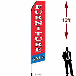16ft Outdoor Advertising Flag With Pole Set Ground Stake furniture Sale